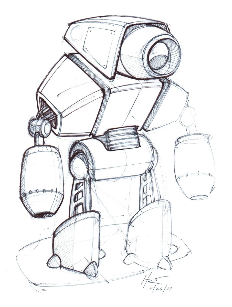 Robot Design Sketch Robot 2