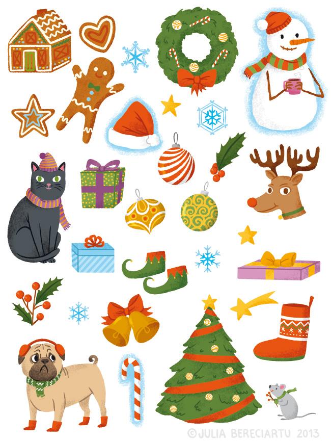 American Girl Holiday Stickers Julia Bereciartu